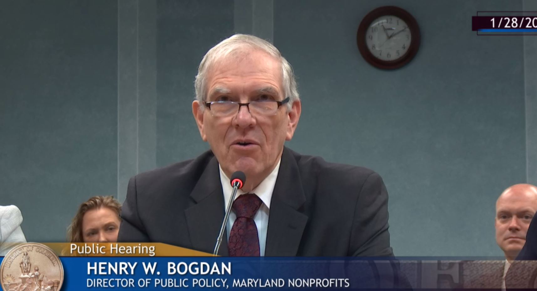 Henry Bogdan Testifying in DC
