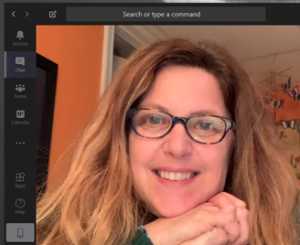 Wendy Wolff smiling during an online meeting.